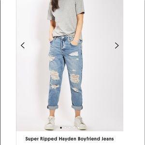 TopShop Super Ripped Hayden a Boyfriend Jeans 26